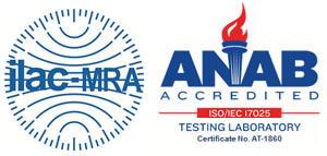 Acreditada ANAB ISO/IEC 17025 - Testing Laboratory